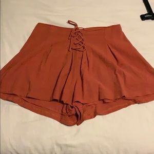 Blush pink shorts